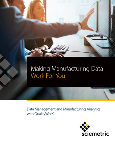 Data management and manufacturing analytics brochure cover