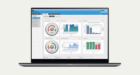 QualityWorX Dashboard on a laptop