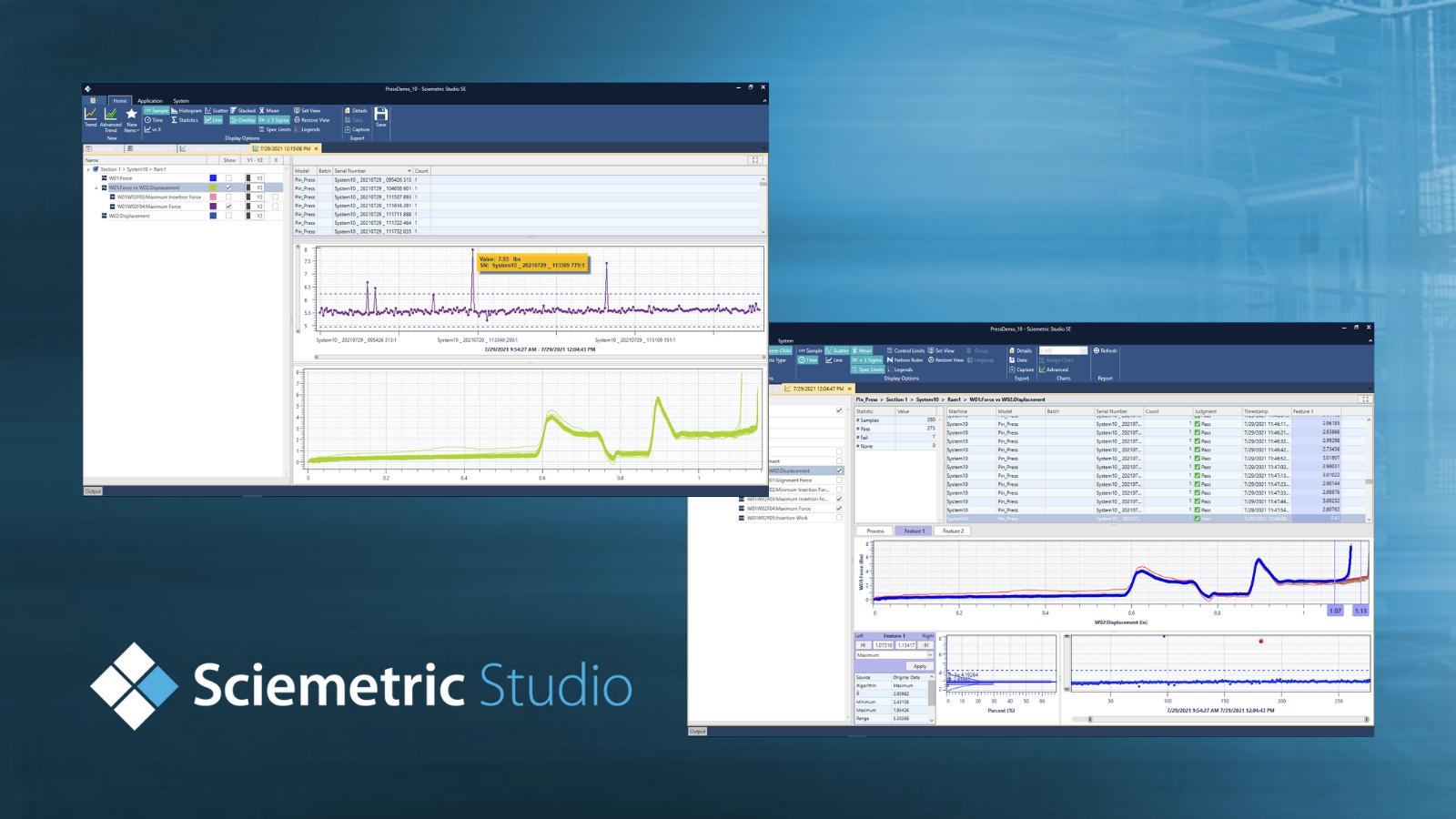 Sciemetric Studio logo with screens